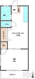 谷塚サンコーポ[301号室]の間取り