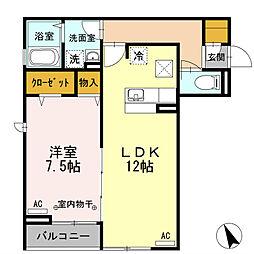 東京都府中市西府町1丁目の賃貸アパートの間取り