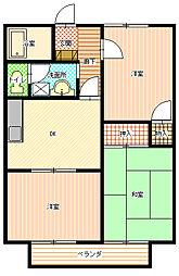 メゾニティ嶋田[205号室]の間取り