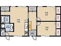 カツミマンション[3階]の間取り