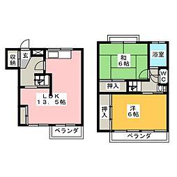 ワイズタウン3棟[1階]の間取り