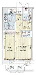 Osaka Metro中央線 九条駅 徒歩1分の賃貸マンション 13階1LDKの間取り