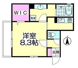 桜(SAKURA)[101号室]の間取り