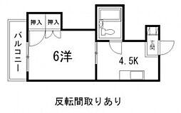 レスポワール東高須[3階]の間取り