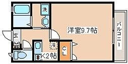 兵庫県神戸市中央区葺合町字布引山の賃貸アパートの間取り