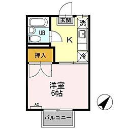 コーポ下賀茂[2階]の間取り