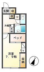 愛知県名古屋市緑区鳴海町字水広下の賃貸アパートの間取り