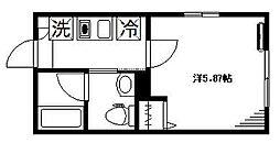 フェリーチェ阿佐ヶ谷M 3階1Kの間取り