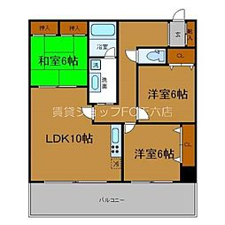 Osaka Metro堺筋線 天神橋筋六丁目駅 徒歩1分の賃貸マンション 9階3LDKの間取り