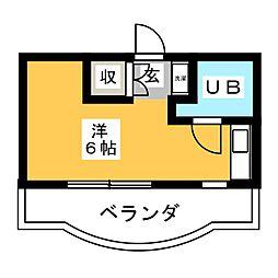 植田スイートハウス[3階]の間取り