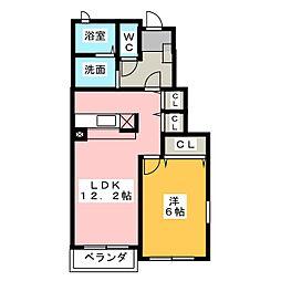 ボナール・K[1階]の間取り