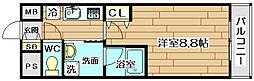 大阪府箕面市彩都粟生南2丁目の賃貸マンションの間取り