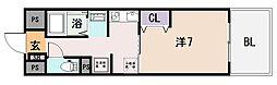 ラ・フォーレ久宝園[7階]の間取り