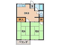 シティーハイム松江[2階]の間取り