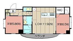 サンシャインII[504号室]の間取り