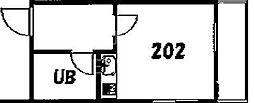カサディマノ[202号室号室]の間取り