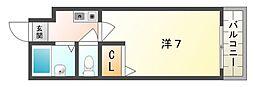 Mプラザ竜田通[3階]の間取り