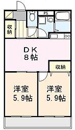 埼玉県さいたま市北区吉野町2丁目の賃貸マンションの間取り
