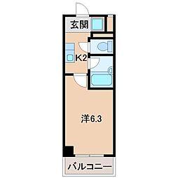 和歌山ドリームビル[3階]の間取り