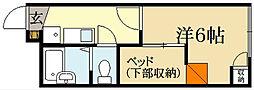 レオパレスクリエイティブAge[1階]の間取り