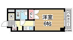 兵庫県神戸市灘区桜口町1丁目の賃貸マンションの間取り