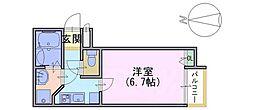 グランシャリオ長岡京Ⅱ[2階]の間取り