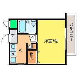 兵庫県神戸市東灘区魚崎南町3丁目の賃貸マンションの間取り