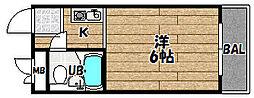 大阪府大阪市東淀川区大桐2丁目の賃貸マンションの間取り
