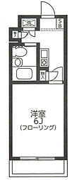 クリスタル津田沼パート1[103号室]の間取り