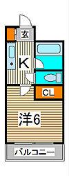 セレーノ並木[9階]の間取り