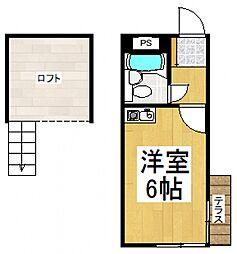 すいーと久米川[1階]の間取り