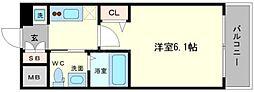 エステムコート難波WEST−SIDEIIIドームシティ[3階]の間取り
