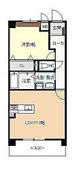 名古屋臨海高速あおなみ線 小本駅 徒歩6分の賃貸マンション 1階1LDKの間取り