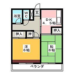 フジヤハイツ[2階]の間取り