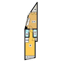 小林アパート[1階]の間取り