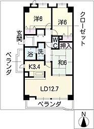 リーフマンショングロリアス[4階]の間取り