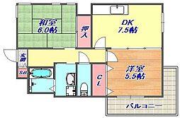 ル・ロワ赤坂[402号室]の間取り