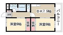 愛知県名古屋市名東区香流3丁目の賃貸アパートの間取り