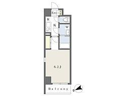 都営新宿線 船堀駅 徒歩5分の賃貸マンション 5階1Kの間取り