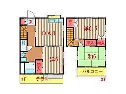 [テラスハウス] 千葉県船橋市習志野1丁目 の賃貸【千葉県 / 船橋市】の間取り