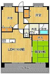 グランドステージ 4階3LDKの間取り