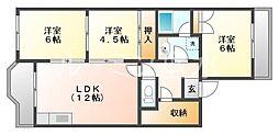 メゾンド平岡[3階]の間取り