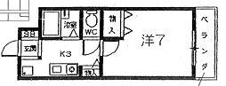 ドゥジェーム夙川[302号室]の間取り