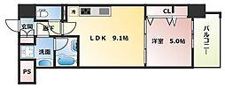 グランパシフィック今里LUX[7階]の間取り