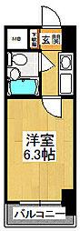 カスタリア船橋[205号室]の間取り