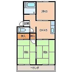 ビレッジオカムラ[2階]の間取り