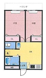 宝国マンション[1階]の間取り