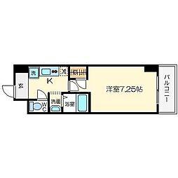エムズパラッツォ都島[10階]の間取り