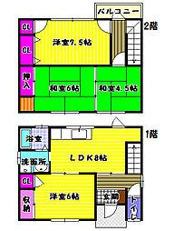 [一戸建] 大阪府富田林市別井1丁目 の賃貸【/】の間取り