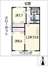 マンションなみひら[3階]の間取り